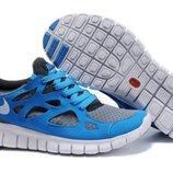 Кроссовки Nike Free Run Plus 2 - серо-голубые