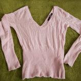 модный легкий розовый свитерок ангора. размер М/36/10