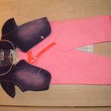 Летний брючный комплект тройка,костюм,костюмчик летний девочке р 92-1,5-2 года.Новый