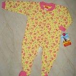 Хлопковый человечек слип-пижама