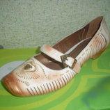 Красивые Туфельки Натур Кожа GIOVENNE GIUSTI ,р 37, 24см