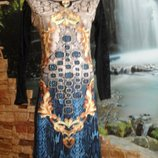 Акция распродажа нарядное платье с узором