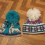 Теплые подростковые женские шапочки с бубонами. В наличии.