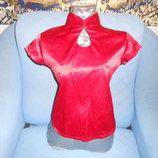 Блузки из красного атласа р.46-48