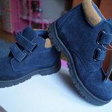 Ботинки для мальчика и девочки, демисезонные замша, новые р, 25-33
