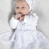 Набор на выписку из роддома для новорожденных белый для девочки