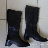 шкіряні зимові чоботи 40р. 25.5см