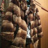 Эксклюзивная курточка мех шиншиллы и кожа.PHiliPP PLEIN.Оригинал.Шве