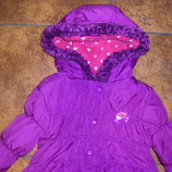 Флисовое пальтишко некст и теплая непродуваемая куртка на флисе 92-98 и 104-116