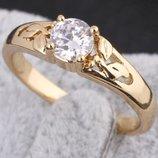 Изящное кольцо ,золото 18 карат,с прекрасным фианитом