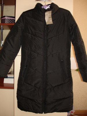 Пальто для девочки новое черное демисезонное размер XS