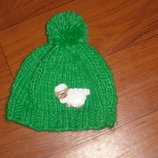 Красивая тепленькая шапочка на ог 46-48