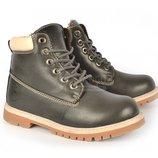 Ботинки эко-кожа Каприз темно серые на меху размеры 36-38-39-40