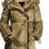 пальто-пуховик р 44-46 капюшон