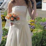 свадебное платье оттенок шампань, платье на выпускной