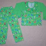 Новые теплые пижамы для девочек в наличии на рост 80-110см