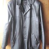 Кожаная куртка М, размер М, кожа для рукоделия, куртка обмен, мужская куртка