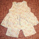 Очаровательный летний костюм ТМ Little Girl Star сарафанчик и бриджи, рост 86 см, 12-18 месяцев
