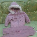 Зимняя куртка с полукомбинезоном