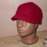 Модная кепи шапка Ангора Цвет фуксия