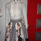 Распродажа Нарядная женская белая блузка-боди BCBG, Италия, оригинал
