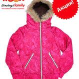 Куртки демисезонные подростковые для девочек с капюшоном на 9-12 лет, бренд «YIGGA» Германия
