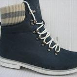 Зимние ботинки женские натур.нубук натур.мех р.37-41 Tall.Land