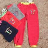 Утепленные спортивные брюки на девочек 6-11 лет 116-146 см
