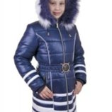 Пальто зимнее Анабель для девочки Новинка 128 в наличии