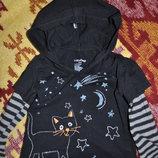 Реглан, кофта для малышки 1-2года