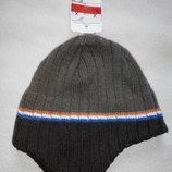 Утепленные флисом шапочки для мальчиков от C&A Германия размеры 92-122, 122-152