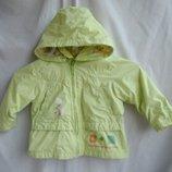 86 см фирменная курточка ветровка дождевик для девочки