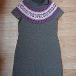 Бронь Снизила цену Теплое зимнее шерстяное платье Esprit