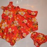 Яокое платье сарафан для девочки 9-12 мес..большемерит