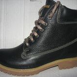 Зимние ботинки натур.кожа набив.мех р. 36-41 черн.