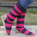 .Раз.38-39.Прикольные вязанные сапоги или тапки с носком