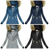 Зимняя женская удлиненная стеганая куртка