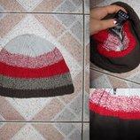Очень-очень теплая шапка вязка флис . Состояние новой