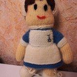 Вязанная игрушка Девочка кукла