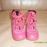 зимние ботиночки для девочки 20 размер стелька 12-13 см