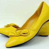 Стильні туфельки yellow 37 размер