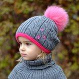 В наличии новые зимние шапки с натуральным помпоном