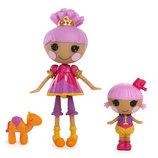 MGA Набор с куклой MINI LALALOOPSY Сестрички Добрые сердечки фокусницы Дюны, Сахары Лалалупси кукла