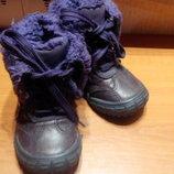 ботинки, сапожки девочке 22р14см