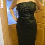 Нарядное черное женское платье 50-52размер