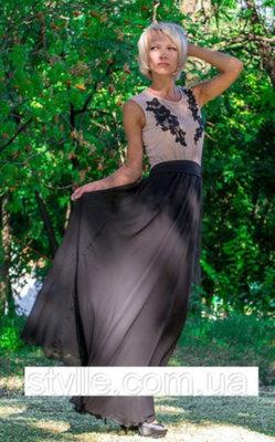 fcc7639e33c Нарядное длинное платье с шифоновой юбкой  350 грн - вечерние платья ...