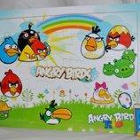 Деревянная игрушка Пазлы Мульт герои РАЗНЫЕ формат А4 Злые птички Angry Birds
