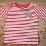 Новая футболка в полоску для девочек 4, 5 лет от Carters, Картерс