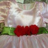 Нарядное платье Нежно розовое 90 и 100