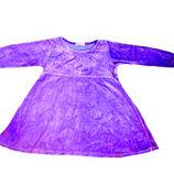Велюровое платье фиолетовое